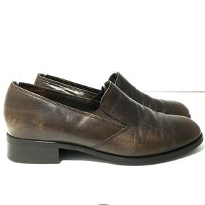 Munro Brown Slip on leather Loafer USA